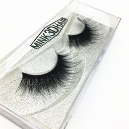 Wholesale C Wool - Sexy 100% hand 3D mink hair beauty thick solid mink wool false eyelash high quality free delivery