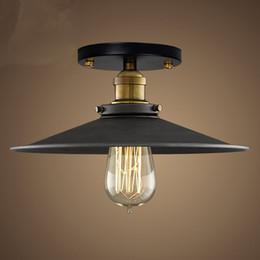 Wholesale country style light fixtures - Retro Ceiling Light Loft Industrial Edison Bulb Metal Light Country style Sconce Lamp Fixtures American Style Good Light