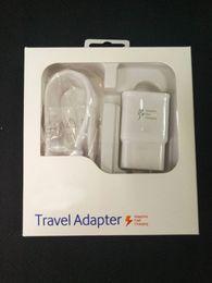 kit rápido Desconto 2 em 1 Carregador Rápido Adaptável 9 V Carregamento Rápido 1.5 M Cabo Micro USB EUA Plug UE USB Início Parede Kit Adaptador de Viagem Rápida com caixa de varejo