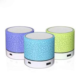Chegada nova A9 Brilho Crack Bluetooth Speaker Mini Portátil Subwoofer LEVOU Disco de Inserção de Cartão de Áudio Universal MOQ: 10 pcs Frete Grátis de