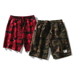 9948dad60d5 Camo Women Men Red Green Camouflage Shorts Hip Hop Casual Streetwear Joggers  Skateboard Sweatpants Short
