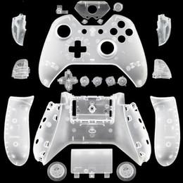 conchas xbox Desconto Xbox One Gamepad DIY Personalizado Matte Branco Substituição Shell Com Botões Para Controladores Sem Fio Gaming Gamepad