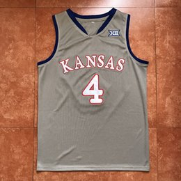 f484db5a2da China #4 Devonte Graham Kansas Jayhawks KU Classic College Grey Basketball  Jersey Men's Embroidery Stitches
