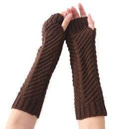 handschuhe taktisch grün Rabatt Fingerlose Handschuh Fäustlinge für Frauen Adult 2018 Herbst Winter warme Woolen gestrickte Handschuhe Damen Handschuhe Fäustlinge schwarz weiß grau