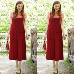 Wholesale Wide Leg Pants Trousers Jumpsuits - Fashion Women Summer Party Casual Overalls Jumpsuit Bib Trousers Wide Leg Pants
