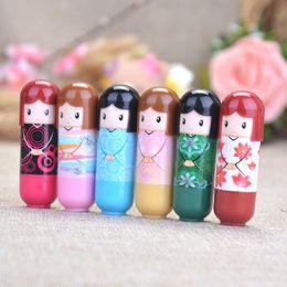 Wholesale Doll Lip - Cute Japanese Doll Clear Moisturizing Repair Lip Balm Lip Protector Lipstick