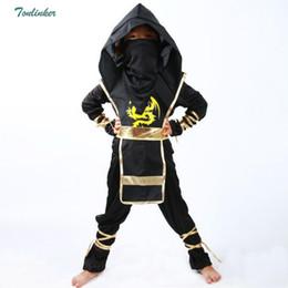 2019 trajes de asesino Disfraces de Ninja para niños Ropa de fiesta de Halloween Niños Guerrero Negro Sigiloso Niños Cosplay Disfraz de asesino Regalos para el día de los niños rebajas trajes de asesino