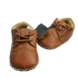 Wholesale Leather Loafers Toddlers - Baby Girls Boy PU Leather Crib Shoes Kids Soft Sole Loafers Toddler Shoes for 0-12M baby