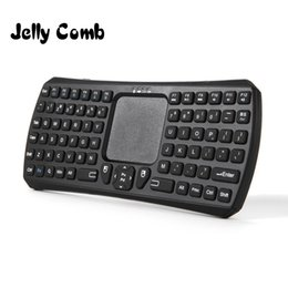 Wholesale internet remote - Jelly Comb Mini Bluetooth Keyboard Touchpad Wireless Handheld Remote Control Touchpad Keyboard with Mouse for Smart TV TV Internet Boxes PC