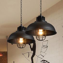 lampadari sferici Sconti Retro lampade a sospensione Lampada a cherosene industriale gabbia hanglampen Lampadario in metallo stile americano a sospensione loft Apparecchio da cucina