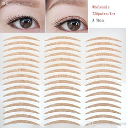 Wholesale Eye Tape Makeup - Wholesale-Wholesale 720 Pairs Lot Invisible Double Eyelid Tape Sticker Magic Big Eye Eyelid Paste Makeup Beauty Tools Eyelid Stickers