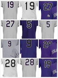 Wholesale Cheap Dj - Nolan Arenado #28 Charlie Blackmon #19 Trevor Story #27 Carlos Gonzalez #5 DJ LeMahieu #9 Cheap Stitched Baseball Jerseys