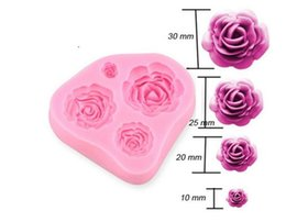 Wholesale Sugar Craft Flowers - super Silicone Cake Mold 3D Rose Flower Fondant Chocolate Mould DIY Decorating Tool Silicone Sugar Craft Molds DIY Cake Decorating Mold