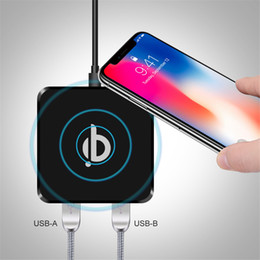 Wholesale Qi Wireless Charger Transmitter Iphone - Qi Standard Wireless Charging Charger Transmitter Pad For Samsung s8 s9 s7 s6 edge iphone 8 x android phone