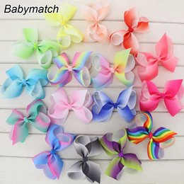 Babymatch Boutique 4.5'' Grosgrain Ribbon Hair Bows WITH Alligator Clip Rainbow Bow For Teens Girls Kids Fashion Gift Bows Clips Deals