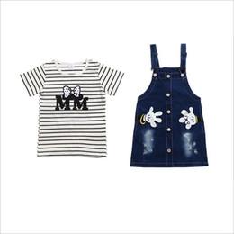 Pantalones cortos para bebé niña online-2018 nuevos vestidos de verano para niños niñas de moda de manga corta camiseta + falda de jumper conjunto niños bebé conjunto casual