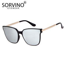 Sororino 2018 retro espelho quadrado óculos de sol das mulheres dos homens  da marca 90 s claro marrom verde preto transparente óculos de sol shades  sp122 ... c97c57d819