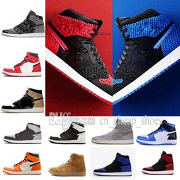 Wholesale Falling Reverse - classic 1 basketball shoes bred banned Top 3 royal reverse shattered backboard Black Toe Chicago UNC men women sneakers US7-13