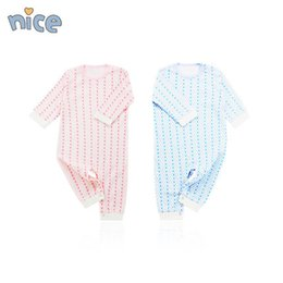 Wholesale Organic Baby Rompers - Baby conjoined clothes spring and autumn summer clothing 0 pure cotton 6 long sleeve 1 year old male newborn autumn wear.jumpsuits rompers
