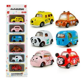 mini auto di gatto Sconti 1:64 auto-styling per bambini auto giocattolo tirare indietro modello auto elefante cane gatto panda mouse auto regalo di compleanno giocattoli educativi per i bambini c4276