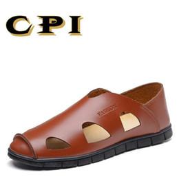 CPI Kuh Split Leder Männer Sandalen wasserdicht Sommer Wohnungen Schuhe  Koreanische Version Täglich Atmungsaktive Füße Lazy Casual Sandalen VV-47 9035df8909