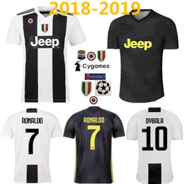 e39679a1c 7 RONALDO MARCHISIO HIGUAIN DYBALA D.COSTA MANDZUKIC Soccer Jersey 18 19  home black White Away Third gray Shirt Football Uniforms