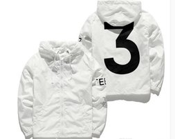 chaqueta de viaje yeezus Rebajas Chaqueta cortavientos KANYE Hip Hop para hombre KANYE Chaquetas Meh Mujer Moda urbana Prendas de abrigo Abrigo negro uniforme Blanco YEEZUS Y3