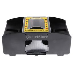 Wholesale Poker Professional - Professional Automatic Playing Card Casino Games Shuffler Shuffling Machine 1-2 Decks Poker Accessory for Party Entertainment