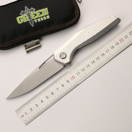 beste neue taktische messer Rabatt Grüner Dorn F111 faltendes faltendes Messer des Messers 3D der Klinge Luftfahrtaluminiumlegierunggriff kampierendes im Freien praktisches Fruchtmesser EDC-Werkzeug