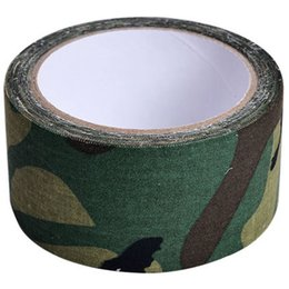 roll belt Promo Codes - 1 Roll 5cmx5m Outdoor Adhesive Duct Tape For Shoot War Game Wild Hidden Army Gun Decorative Bandage Hunting Wrap Tape Camo Belt