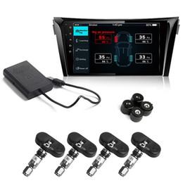 Argentina Coche TPMS Android Reproductor de DVD Monitor de conexión USB Sistema inalámbrico de monitoreo de presión de neumáticos con 4 sensores de neumáticos internos / externos Suministro