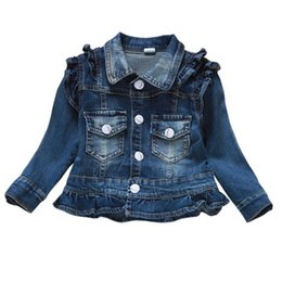 Vestiti delle neonate Cappotto dei jeans Babe Jeans delle ragazze Giacca Capispalla denim Abbigliamento per bambini Primavera Autunno Abiti per bambini da