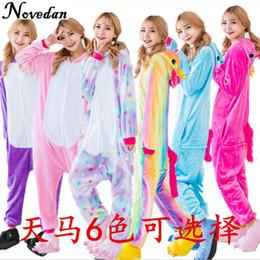 Wholesale kids kigurumi - Kigurumi Unicorn Pajamas Women Cosplay Costume Animal Onesie Girls Rainbow Homewear Flannel Warm Soft Jumpsuit Child Kid & Adult