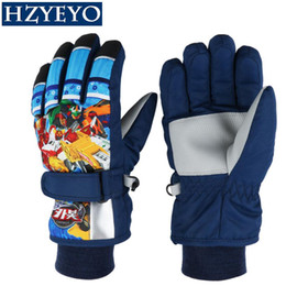 Wholesale Kid S Gloves - Winter Warm Ski Gloves kids Snowmobile Mittens Skiing Snowboard Gloves windproof Glove for Girl Boy Anime Figure