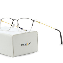 61ae858c0ba Discount korean eyewear - Titanium Glasses Frame Men Semi Rimless  Prescription Eyeglasses Women Myopia Optical Frames