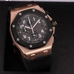 Wholesale Men Watch Royal - AAA Top Luxury Royal Brand Men's Chronograph Watch 42mm Stainless Steel VK Quartz Movement Sports Men Watches Wristwatch