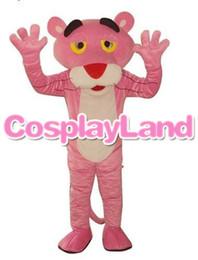 rosa zeichen Rabatt Maskottchen Kostüm für Erwachsene Hot Cartoon Charakter Pink Panther Maskottchen Kostüm Leopard Fancy Karneval für die Schule