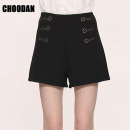 Wholesale Lady Summer Short Legging - High Waist Shorts Women Wide Leg Sexy Shorts 2017 New Korean Fashion Summer White Black Short Ladies Trousers Female Clothing