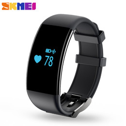 Wholesale Heart Rate Monitors Women - Wholesale-Smart Watch D21 New Sports Wristband SKMEI Fashion Watches Call Message Reminder Heart Rate Monitor ios Android Men Women Watch