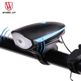 Wholesale Wheel Electric Bike - WHEEL UP USB Charging 240 lumen IPX4 Electric Horn Bicycle Night Riding Warning Horn Light Bike Head-light Bike Accessory 2017