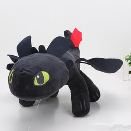 Wholesale Toothless Plush Stuffed Animal - Wholesale How to Train Your Dragon plush toys Toothless plush Night Fury Plush Stuffed Animal Doll Toy Christmas Kids Gift