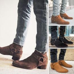 5c9d830caac30 scarpe sexy mens Sconti Stivaletti da uomo in pelle scamosciata con  cerniera di alta qualità primavera