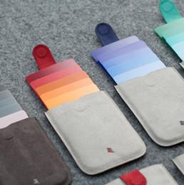 Sacs plastifiés en Ligne-5 couleurs DAX laminé drawcard sac dazzle couleur gradient carte à puce sac ultra-mince bagage à main portefeuille pour hommes et femmes GGA515 5PCS