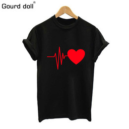 Wholesale love dolls for women - Gourd doll 2018 Cotton Love Print T Shirt For Womens Summer T-shirt Casual Multicolor Pattern Funny Shirt Ladies Top Tee Fashion