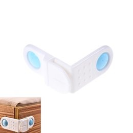 Wholesale Drawer Safety - Lovely Safety Drawer Door Cabinet Cupboard Toilet Safety Locks Baby Kids Care Plastic Locks Straps Infant Baby Protection