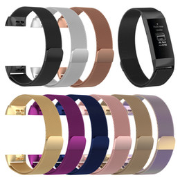 Fitbit fitnessband online-9 Farben für Fitbit Charge 3 Fitness Band Magnetic Milanese Edelstahl-Armband-Replacement-Bänder für Fitbit CHARGE3 Strap