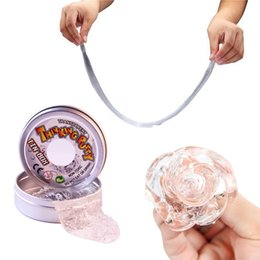 Wholesale Mud Box - Transparent Plasticine Magnetic Rubber Mud Slime Fun Thinking Putty liquid glass Education Toy Clay tin box Gifts For Children
