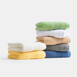 baby bath towel square Promo Codes - 100% Cotton Towel Soft Baby Wash Cloth Children Adult Bath Washcloth Sugar Color Quick Absorbence Washable Home Hotel Decor