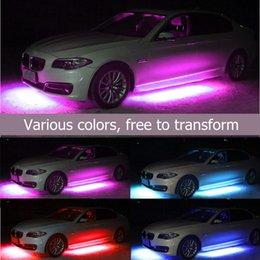 luzes do chassi Desconto 1 Arraste 4-5050 Color Audio Control Car Chassis Luz Atmosfera Luz Decoração Luz 60 * 90 cm