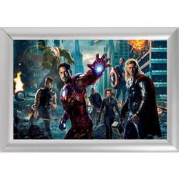 пользовательский плакат Скидка Серебряный цвет Алюминиевый сплав Картинная рамка Home Decor Custom Canvas Frame Marvel Canvas Poster F170112 # 70